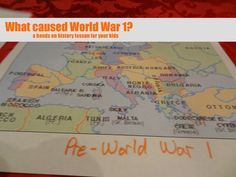 What caused World War 1 hands on history lesson
