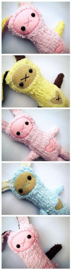 Fluffy Bunny softies