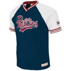 078f8e0ca1c Mitchell Ness MLB Bleacher Seats V-Neck T-Shirt - Men s - Philadelphia  Phillies - Royal