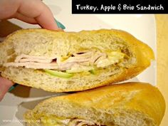 Turkey, Apple, and Brie Oven Roasted Sandwich - I would use that homemade whole wheat baguette