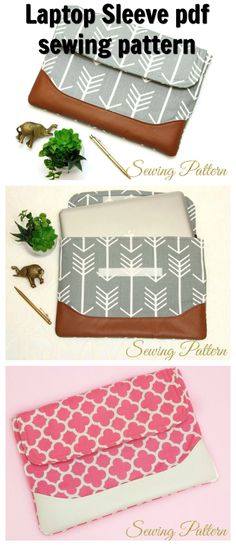Sewing pattern for your favorite laptop. This laptop sleeve pattern is perfect for protecting and carrying your precious MacBook. With its eye-catching design and practical padded body, it has a semi-structured yet sleek silhouette.