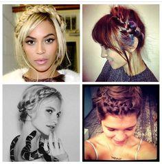 Over the head plaits, celebs seem to like them