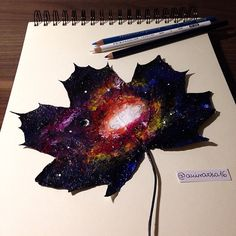 """culturenlifestyle: """" Polish Artist Joanna Wirażka Uses Autumn's Fallen Leaves as Canvases Young Polish artist Joanna Wirażka uses autumn's leaves as canvases to compose beautiful colored pencil..."""