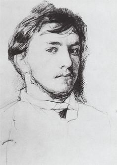 monsieurlabette: Valentin Serov, self-portrait, 1885