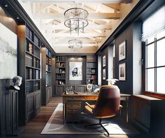 Dreamy home offices with libraries for creative inspiration plantation style. Top half is light and architectural, bottom half is dark and refined. Top half is light and architectural, bottom half is dark and refined.