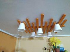 Lámpara de palets y maceteros