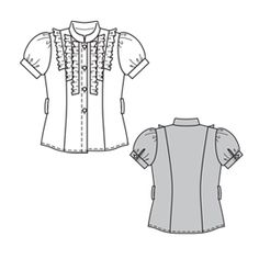 Shirt pattern - will make without the ruffles and make the sleeves a bit longer,