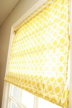 Roman shades from mini blinds. Love this idea, with a totally different fabric...  something softer