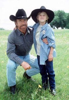 Chuck Norris and Haley Joel Osment in Walker, Texas Ranger Chuck Norris Movies, Haley Joel Osment, Walker Texas Rangers, Steven Seagal, Celebrities Before And After, Renaissance Men, Action, Young Actors, Old Tv Shows