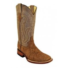 Ferrini Ladies Wheat Print Elephant Boots S-Toe 81693-17