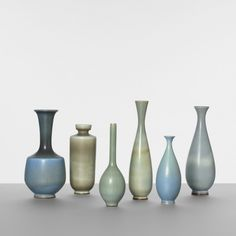 146: Berndt Friberg / collection of six vases < Scandinavian Design, 17 November 2011 < Auctions | Wright