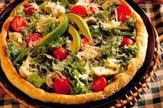 Super Salad Pizza recipe