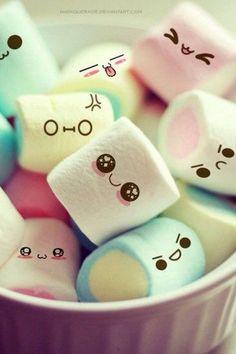 Marshmallow faces ^__^