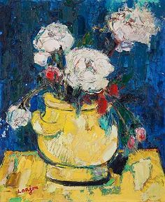 Bernard Lorjou Still Life Painting with Flowers Irish Art, True Art, Global Art, French Art, Art Market, Still Life, Past, Sculptures, Art Gallery