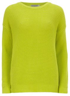 Lime Fisherman Knit Jumper