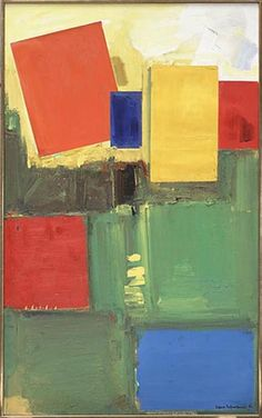 Imperium in Imperio by Hans Hofmann, 1954 Oil on Canvas, Painting Project Abstract, Abstract Canvas Art, Oil On Canvas, Abstract Paintings, Joan Mitchell, Hans Hofmann, Art Moderne, American Artists, Abstract Landscape