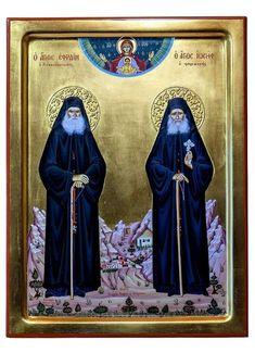 ΜΙΑ ΑΥΤΟΣΧΕΔΙΑ ΠΡΟΣΕΥΧΗ ΣΤΟΥΣ ΝΕΟΥΣ ΑΓΙΟΥΣ ΜΑΣ! Byzantine Icons, Holy Family, Orthodox Icons, Priest, Old Town, Christianity, First Love, Saints, Believe