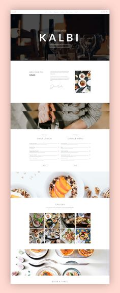 KALBI is a clean & elegant WordPress theme for cafes, bars, bistros, bakery, pubs, cafeteria, coffee shop pizzerias or other restaurant related businesses. This is the theme for you. Setting up and working with KALBI is over with the Page Builder & Theme Options. #restaurant #wordpress #theme