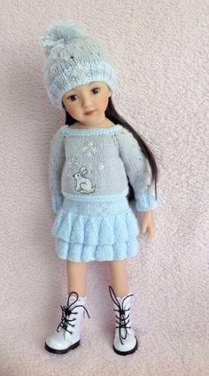 Doll Shoes Slim 50mm CREAM Heart Cut Custom for Little Darling