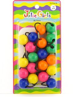 Jolie Girls By Tara Twinbead Ponytail Holders - 10 Pcs. *** You can get more details by clicking on the image.