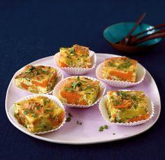 Süßkartoffel-Tortilla: Himmlische Häppchen - Kartoffeln einfach schon am Vortag kochen, dann ist das herzhafte Omelett im Nu fertig. Genial!