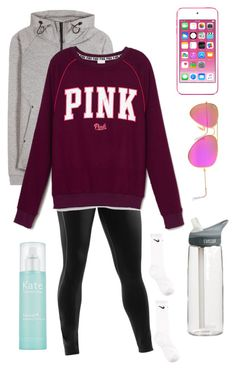 ello' govenar by lydia-hh on Polyvore featuring NIKE, Under Armour, Ray-Ban, Kate Somerville, Apple and CamelBak