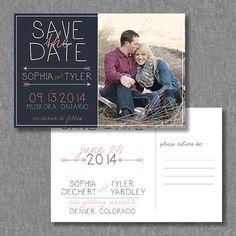 DIY printable photo save the date postcard