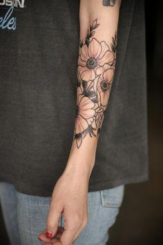 flower outline tattoo - Google zoeken