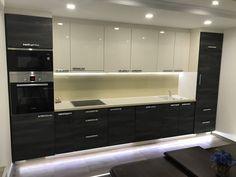 iWohnung Stojadinovic Diy Kitchen, Kitchen Cabinets, Home Decor, Lighting, Projects, Decoration Home, Room Decor, Cabinets, Home Interior Design