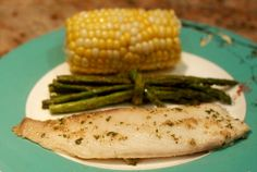 garlic butter tilapia - my one year old and three year old ate this up!