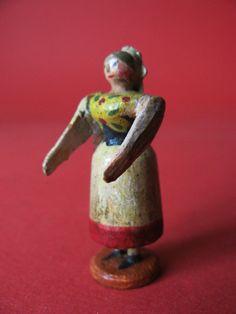 Uraltes Erzgebirge: Seiffener Miniatur, Amme/Sorbin, Hiemann-Nasenfigur
