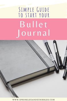 A short and simple guide to starting your bullet journal journey, plus keys to making the system that works for you! Read on to find 3 simple steps on how to start a bullet journal #bulletjournal #startyourbujo Down Quotes, Bullet Journal How To Start A, Cute Notebooks, Write It Down, Pen And Paper, Page Layout, Scribble, Productivity, Planners