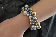 Homemade Beginner Jewelry Making Project   A Diy Clustered Pearl Bracelet