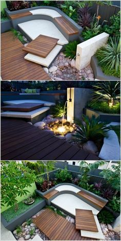 Small Backyard Ideas - Utilize our small backyard ideas and also design-smart landscaping ideas to aid your outdoor space live big. Modern Backyard Design, Modern Landscaping, Front Yard Landscaping, Patio Design, Backyard Patio, Exterior Design, Landscaping Ideas, Backyard Ideas, Backyard Designs