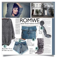 """grey sweater"" by meylimayli ❤ liked on Polyvore featuring Dooney & Bourke and Rupert Sanderson"