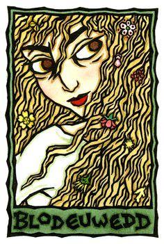 Blodeuwedd, Welsh Spring and Owl Goddess by Thalia Took