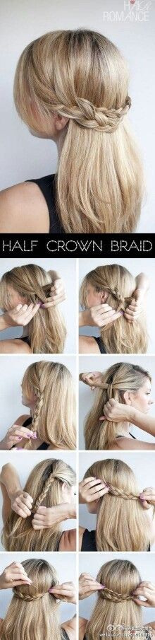 Half crown braid for a younger look