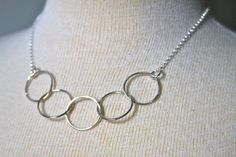 Necklace made of 5 sterling silver handcrafted by HollyMackDesigns, $78.00