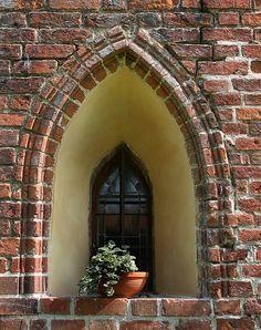 Malbork Castle - Poland Malbork Castle, Castle Doors, Gates, Enchanted, Poland, Door Handles, Brick, Windows, Touch