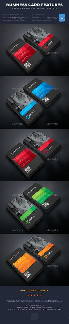Corporate Business Card by UXcred FEATURES:Easy customizable and editable Business card with bleed CMYK Color Design in 300 DPI resolution Print read Buy Business Cards, Business Card Maker, Vintage Business Cards, Artist Business Cards, Simple Business Cards, Professional Business Cards, Visiting Card Design, Bussiness Card, Photography Business Cards