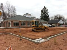 April 15th 2013 - The outline of the parking lot is in place, next we'll start paving. There's A LOT going on inside and out to get us ready to open up. Thanks to our friend Mike Holcomb for this photo.