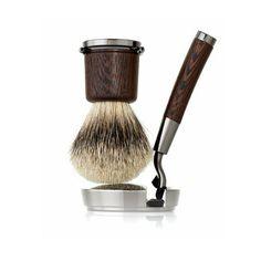 Acqua di Parma Shaving Kit made in Wengé Wood, Badger Fur and Bronzed Brass. Shaving Set, Shaving Razor, Shaving Brush, Wet Shaving, Shaving Cream, Aqua Di Parma, Brush Kit, Barber Shop, Fragrance