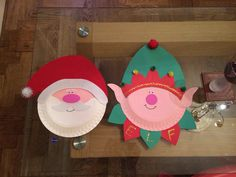 Elf and santa paper plate decoration & Platypus Crafts Paper Plate Santa S Elf Craft Kit | Creative Kids ...