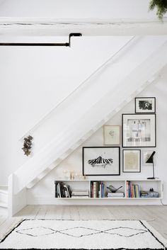 Art wall under the stairs
