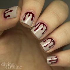 Halloween Manicure: Blood Drip Nail Art | Divine Caroline