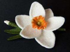 Felt Flower Brooch Needle Felted by felttess on Etsy