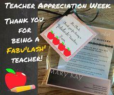 Teacher appreciation week gifts #marykay #teacherappreciationgifts #lashintensity
