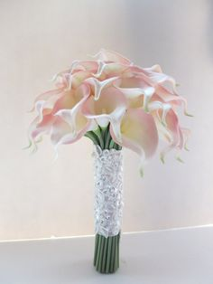 Blush Pink Calla Lily bouquet, Bridal Bouquet, wedding bouquet on Etsy, $99.00