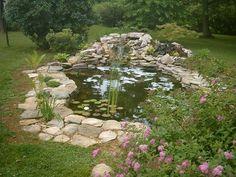 backyard ponds | Backyard Koi pond. like the rocks around the edge..need to do this.