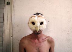Burning Man Owl / Barn Owl/Mask art/ Burning man mask/ carnival mask/ Adults Halloween mask/ Owl face mask/ Animal masks/ festival headdress by ThumbelinaWorkshop on Etsy https://www.etsy.com/listing/247387100/burning-man-owl-barn-owlmask-art-burning